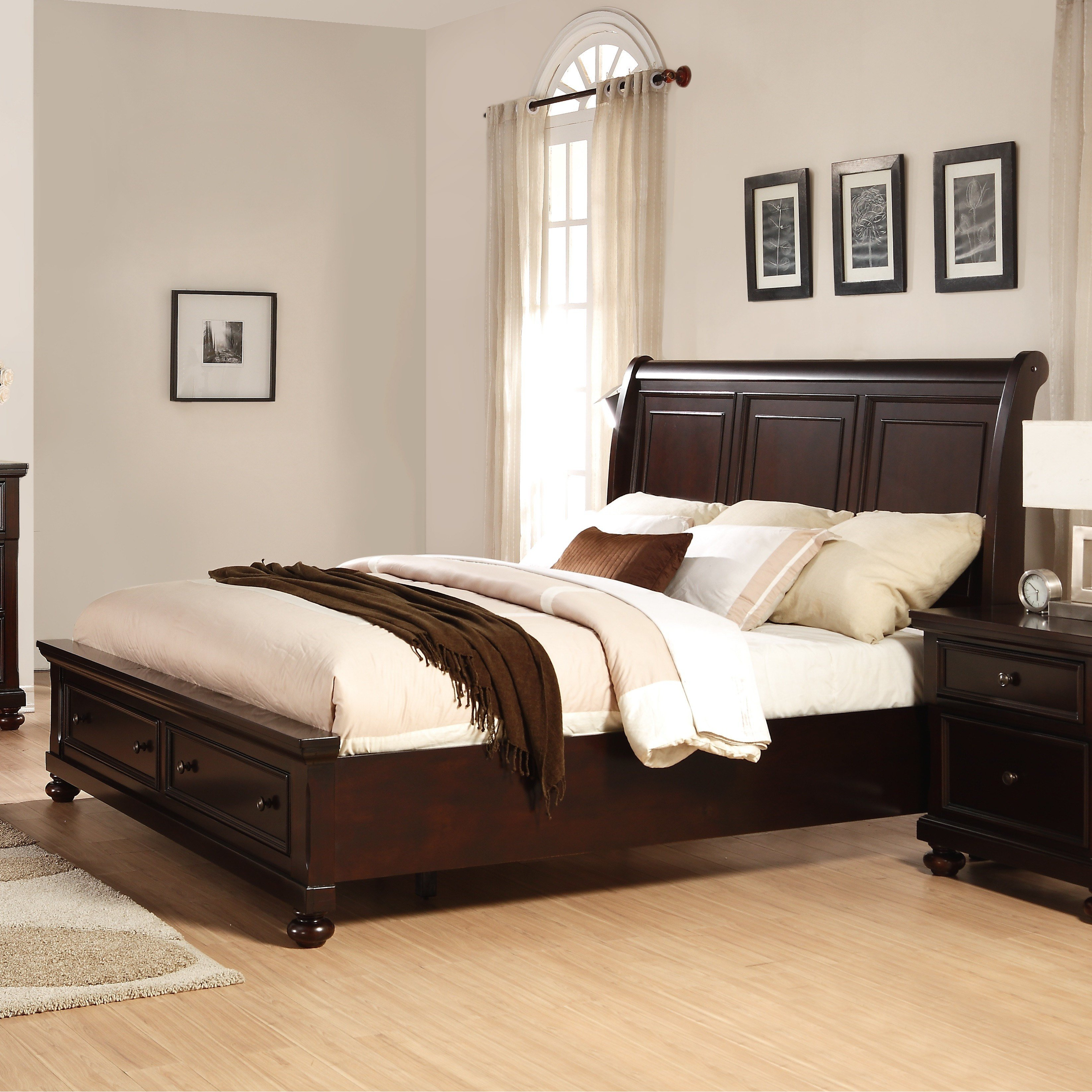 Best Roundhill Furniture Brishland Panel 5 Piece Bedroom Set With Pictures
