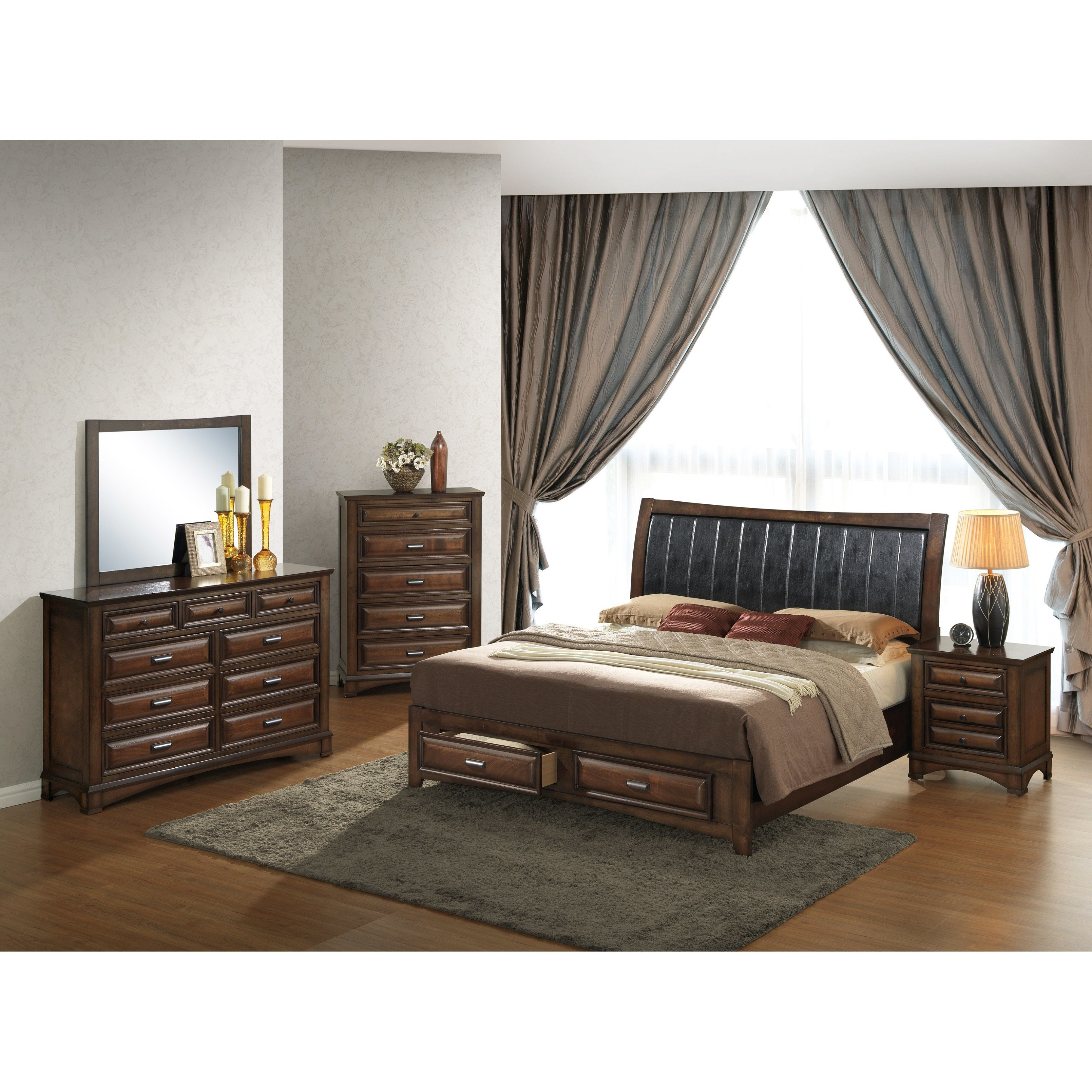 Best Roundhill Furniture Broval Panel 5 Piece Bedroom Set Wayfair With Pictures