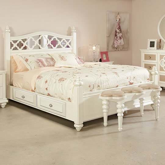 Best Najarian Furniture Paris Panel Customizable Bedroom Set With Pictures