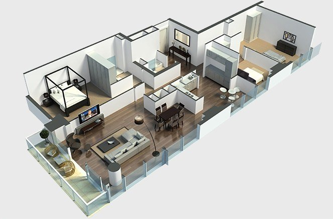 Best 22 Large Hall 3Bedroom Layout Simplicity And Abstraction With Pictures