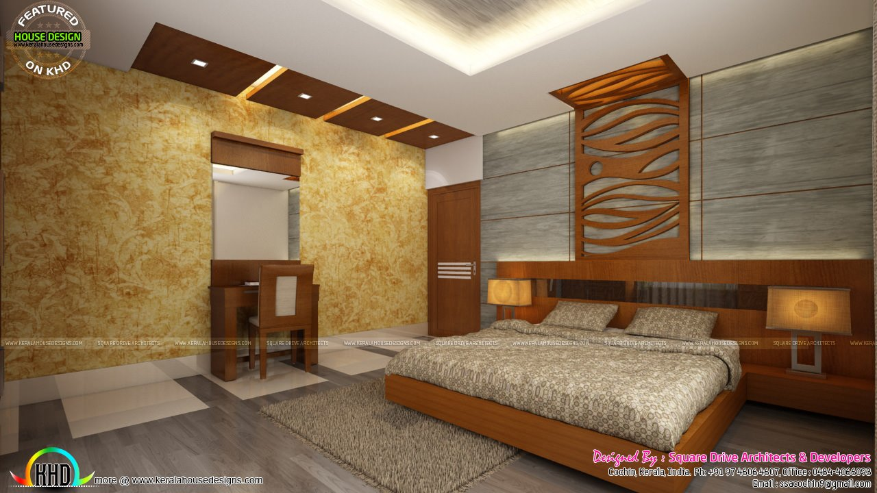 Best Living Room Ladies Sitting And Bedroom Interiors Kerala With Pictures