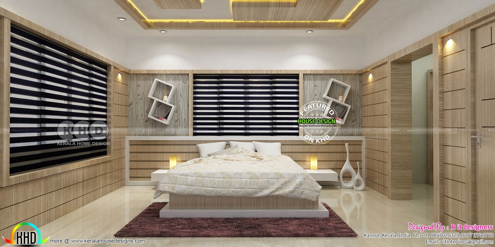 Best Beautiful Modern Bedroom Interior Designs Kerala Home Design And Floor Plans With Pictures