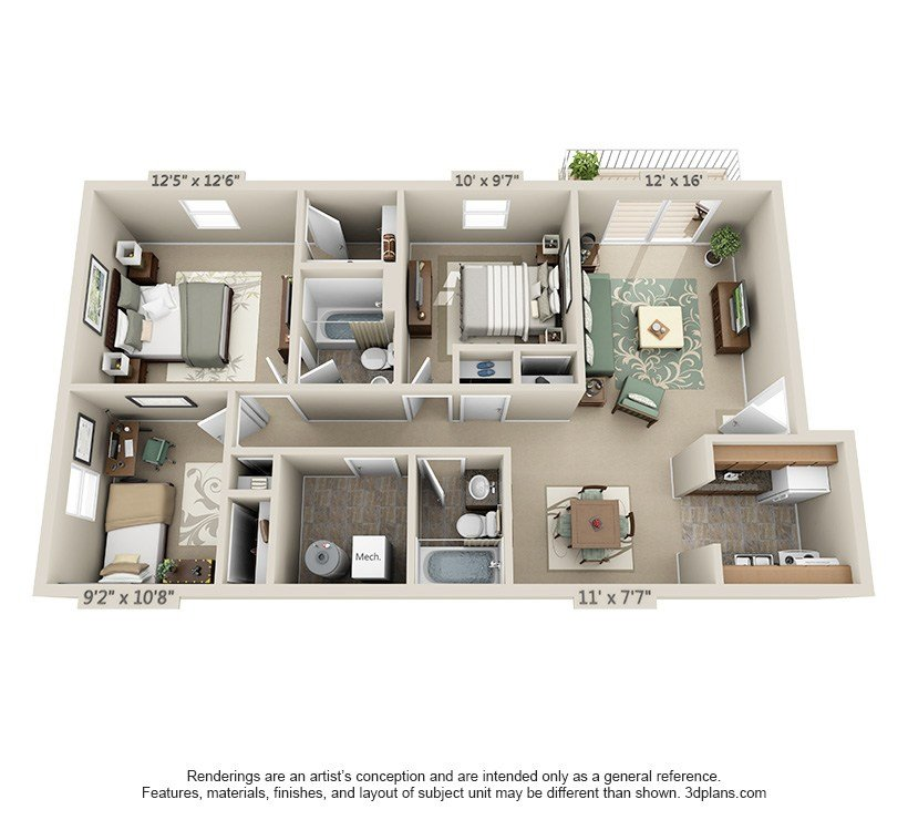 Best The Crest Salem Va Apartments Floor Plans And With Pictures