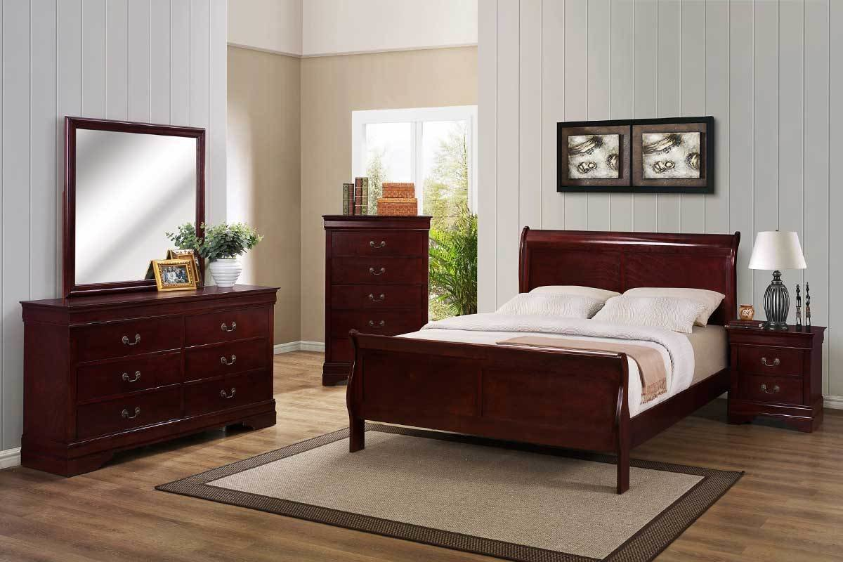 Best Cherry Bedroom Set The Furniture Shack Discount Furniture Portland Or With Pictures