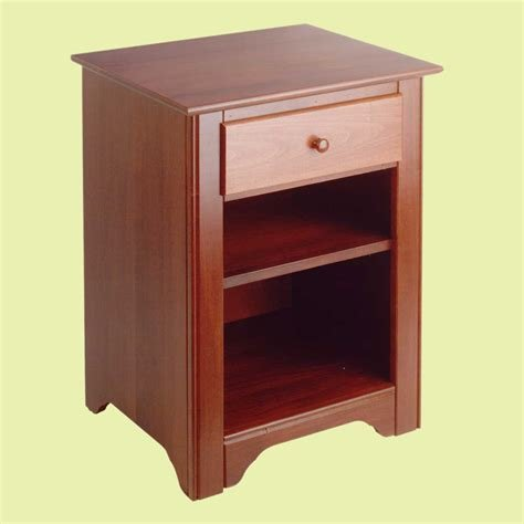 Best End Tables Bedroom Cherry Stain Birch Shaker End Table With Pictures