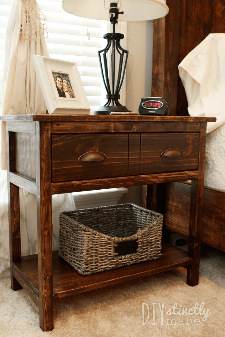 Best Diy Farmhouse Bedside Tables – Diystinctly Made With Pictures