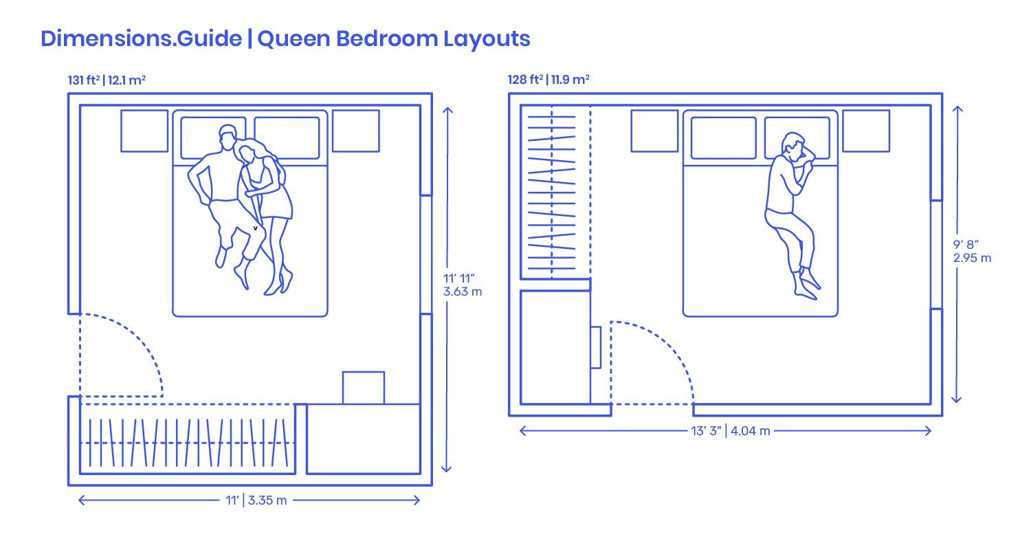 Best Queen Bedroom Layouts Dimensions Drawings Dimensions Guide With Pictures