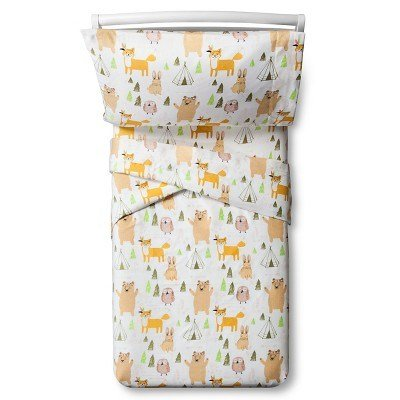Best Woodland Whimsy Sheet Set Toddler 3 Pc Multicolor With Pictures