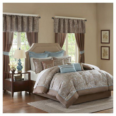 Best Blue Brown Isabella Embroidered Paisley Bedroom In A Bag With Pictures