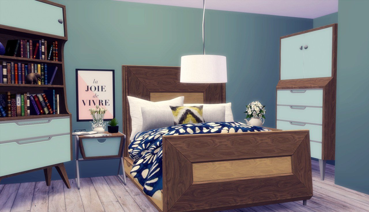 Best Midmod Bedroom Conversion By Rachel Teh Sims With Pictures