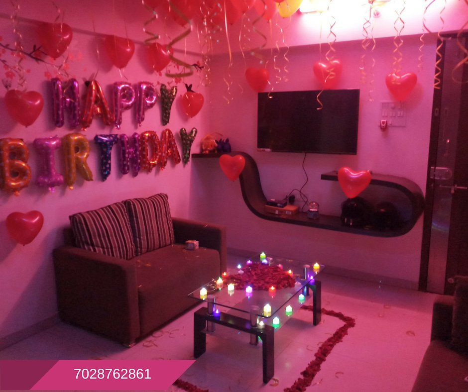 Best Romantic Room Decoration For Surprise Birthday Party In With Pictures