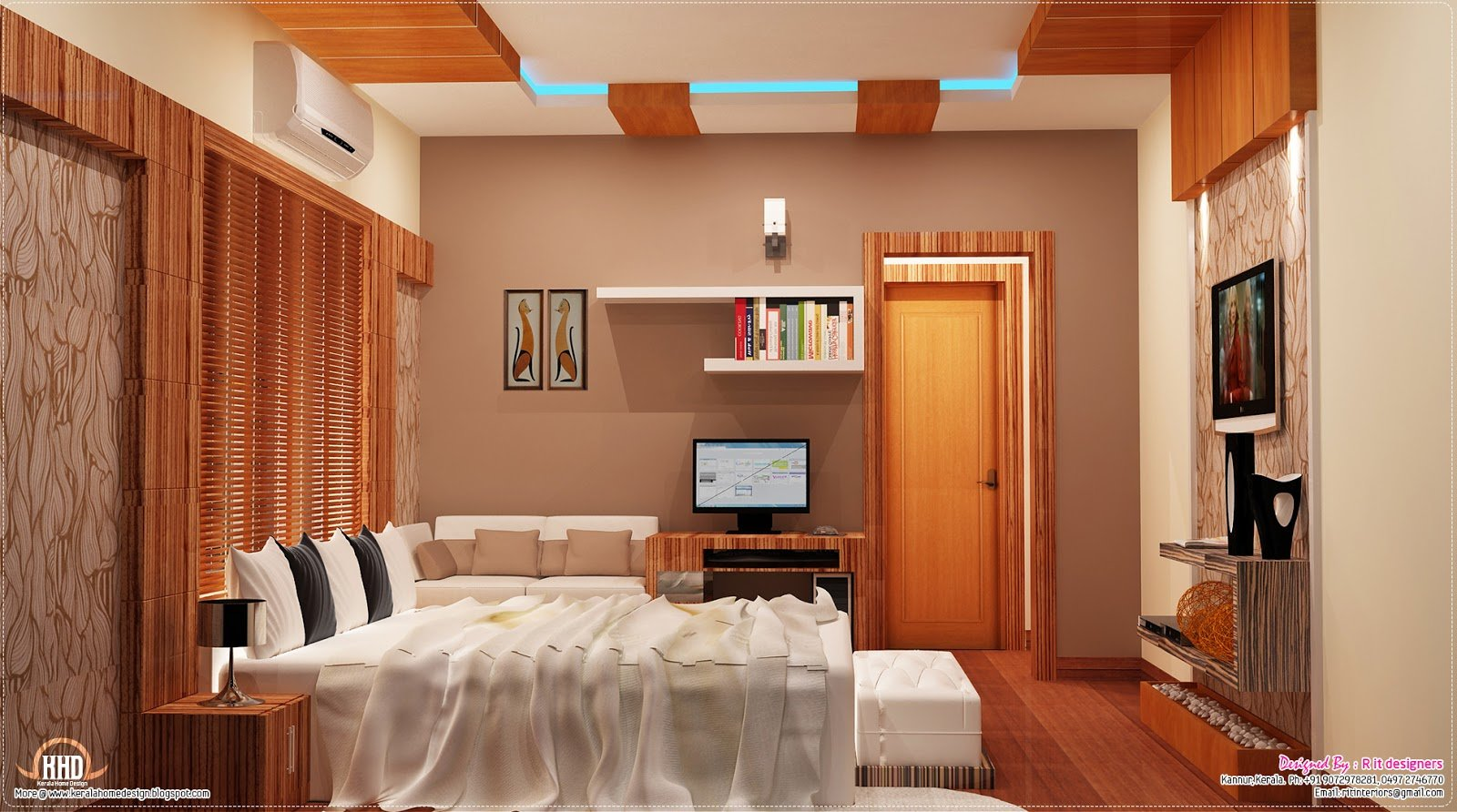 Best 2700 Sq Feet Kerala Home With Interior Designs Kerala With Pictures