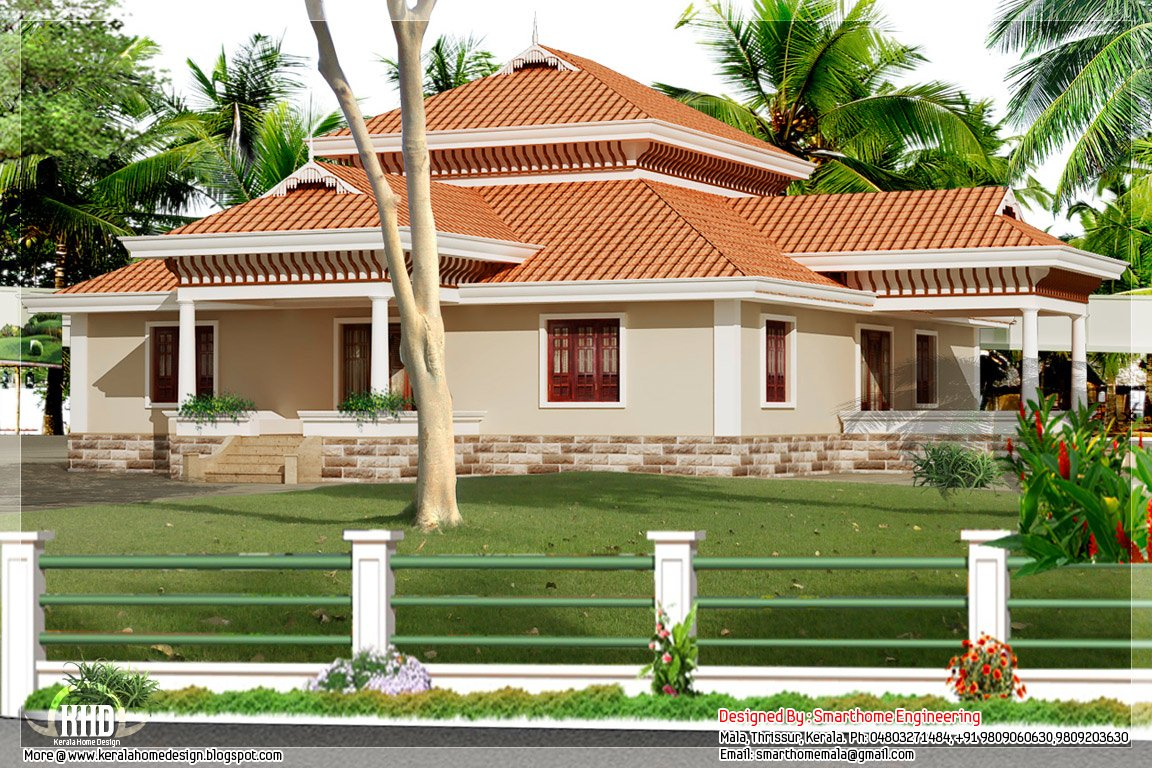 Best 3 Bedroom Kerala Style Single Storey House Kerala Home Design And Floor Plans With Pictures