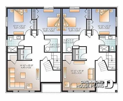 Best Multi Family Plan W3058 V1 Detail From Drummondhouseplans Com With Pictures