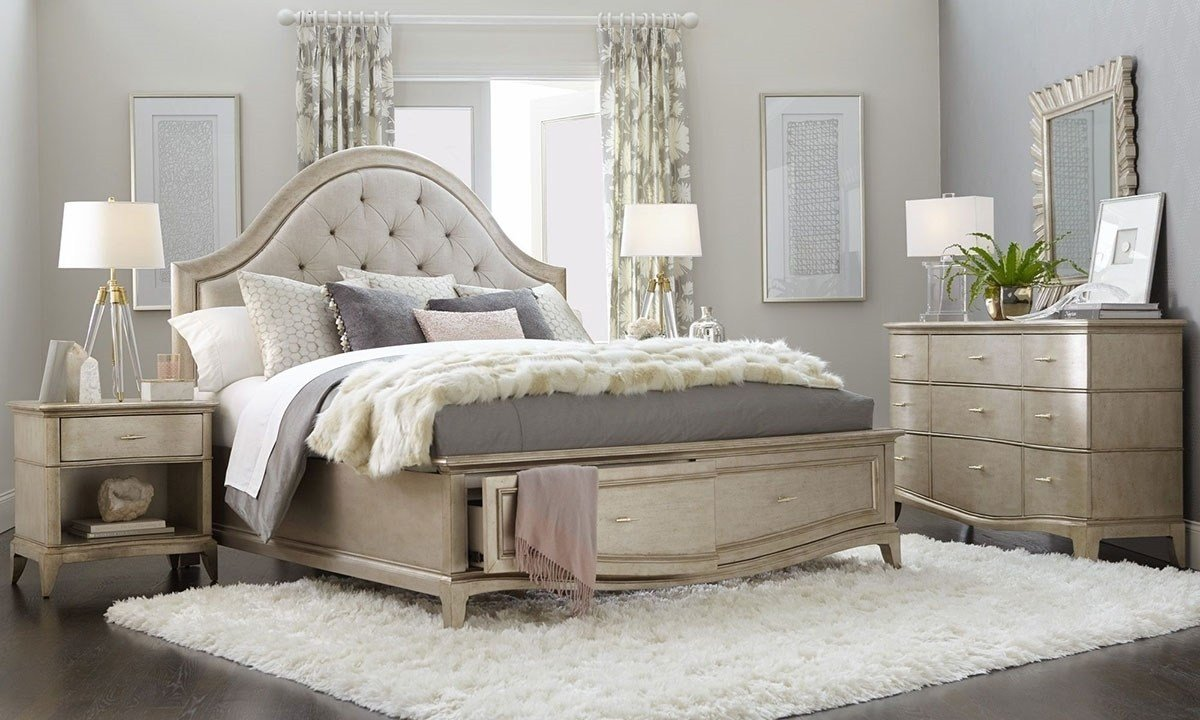 Best A R T Starlite Glam Upholstered Queen Storage Bedroom Haynes Furniture With Pictures