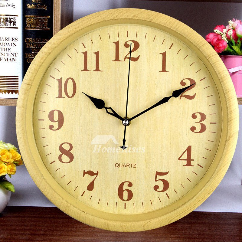 Best Bedroom Wall Clocks White Blue Yellow Plastic Round Analog With Pictures