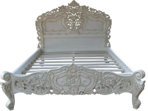 Best French Rococo Bed Silver Leaf Lock Stock Barrel With Pictures