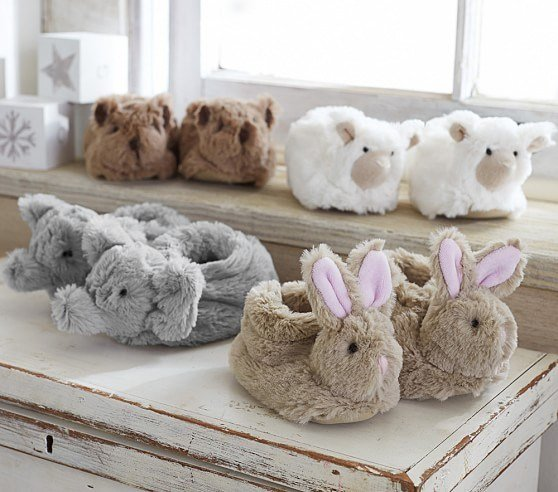 Best Faux Fur Baby Animal Slippers Pottery Barn Kids With Pictures