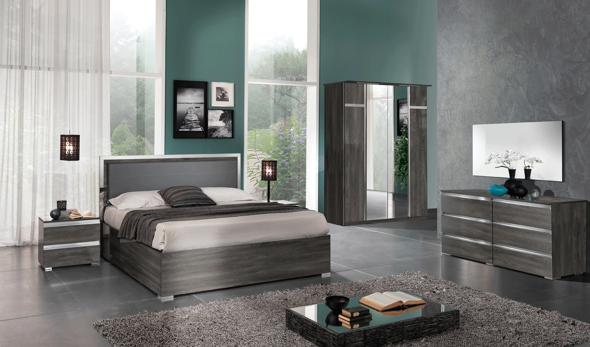 Best Made In Italy Leather Contemporary Platform Bedroom Sets With Pictures