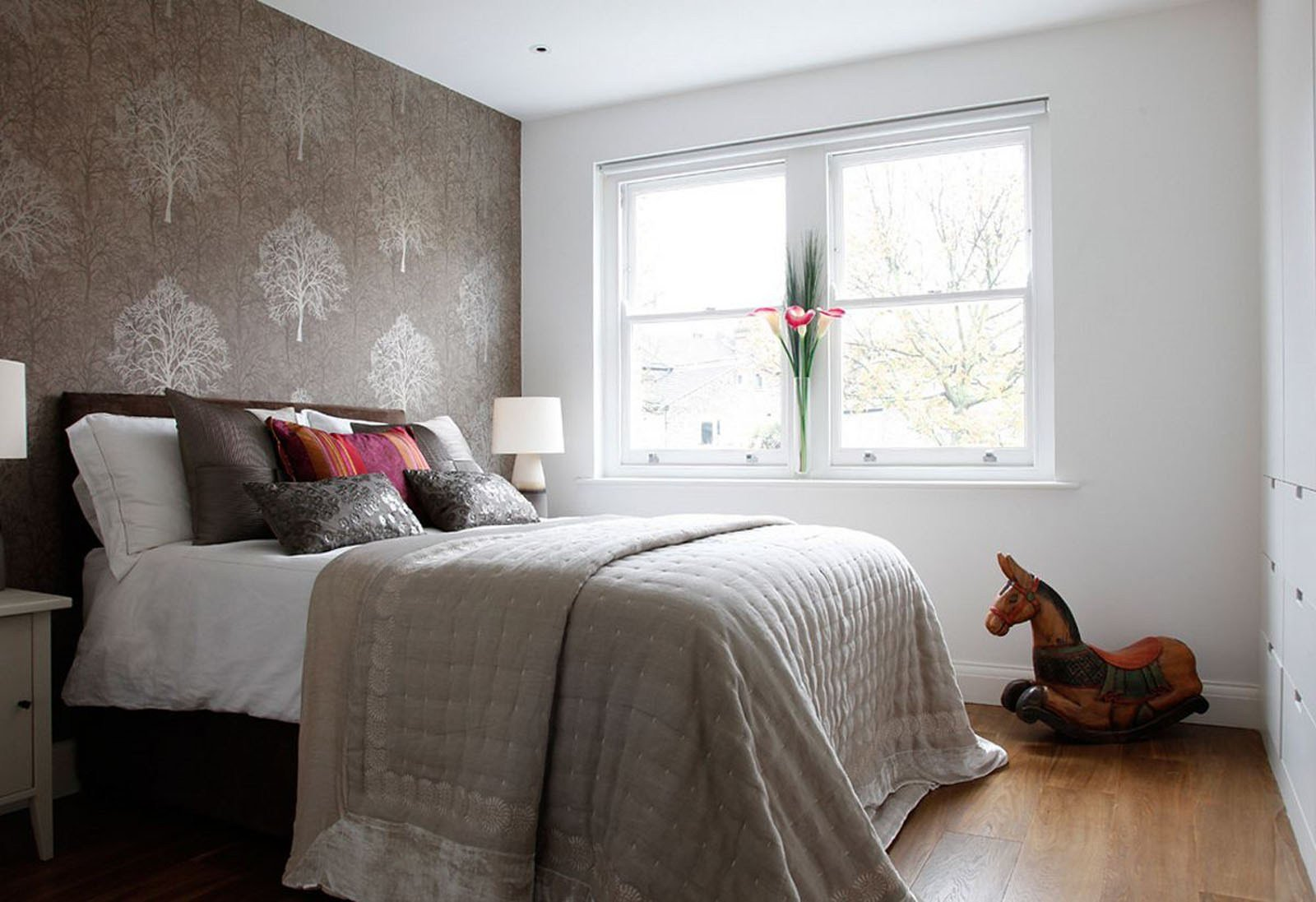 Best Bedrooms Small Bedroom Design With Brown Wallpaper With Pictures