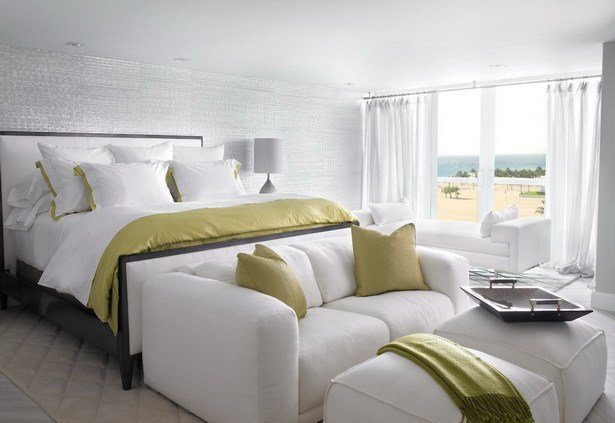 Best Bedrooms Full Covered White And Olive Fabric Loveseat With Pictures