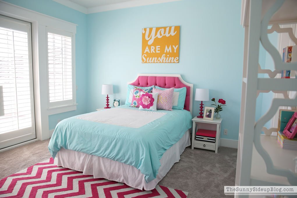 Best Pink And Aqua Blue Pr*T**N Girls Bedroom With Pictures