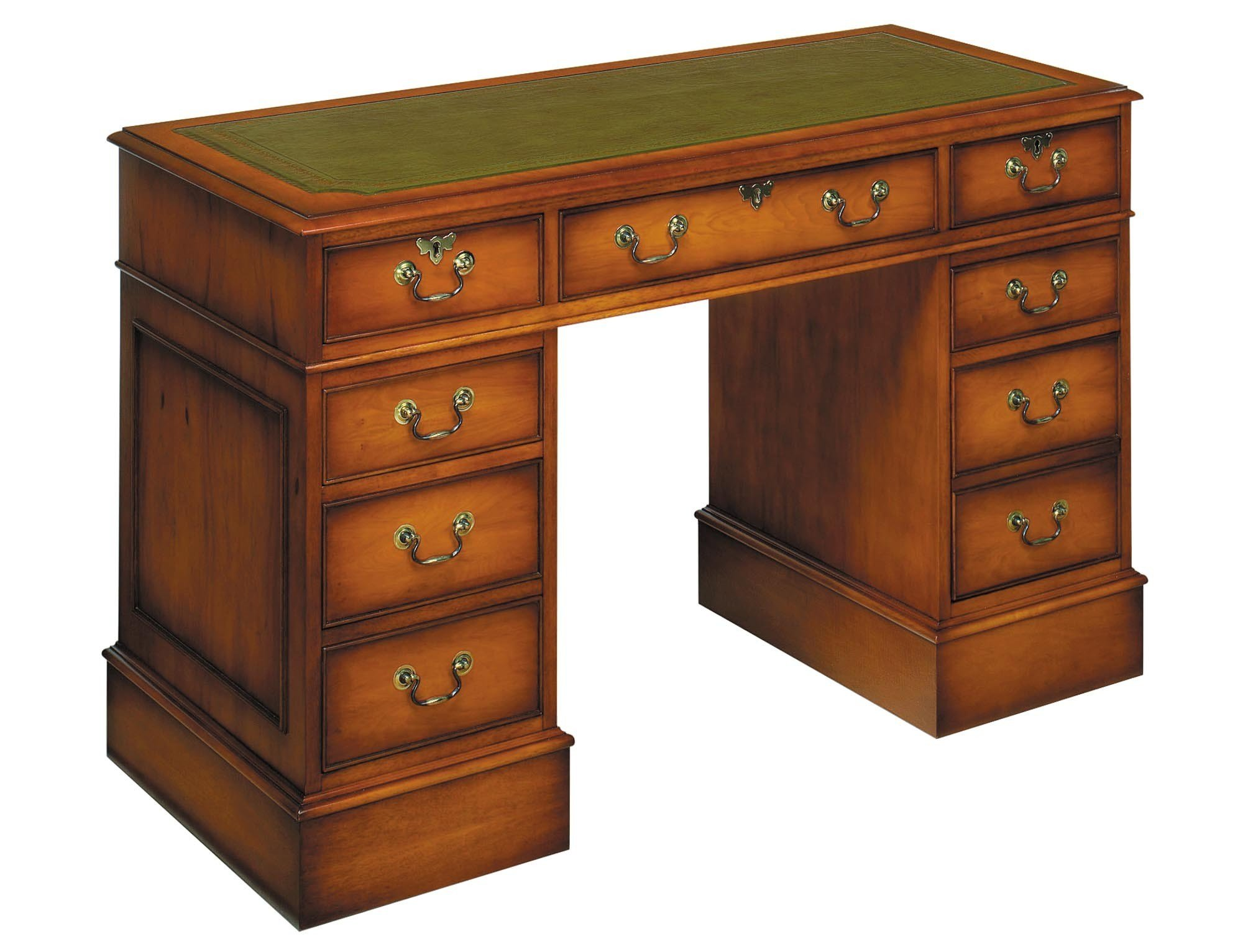 Best Bradley Yew 666 Pedestal Desk Tr Hayes Furniture Store Bath With Pictures