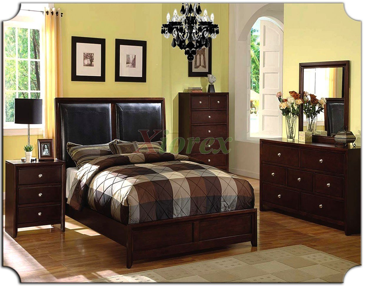 Best Bedroom Furniture Set With Leather Panel Headboard Beds With Pictures