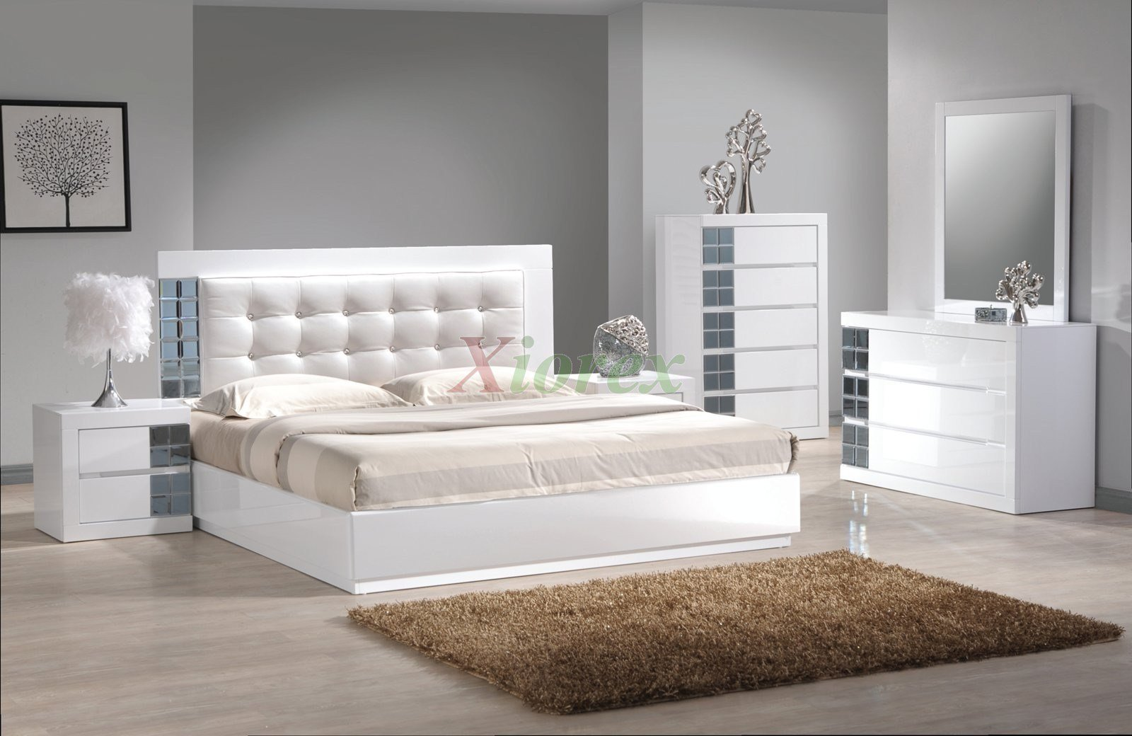 Best Platform Bedroom Furniture Set W Upholstered Headboard Beds 149 Xiorex With Pictures