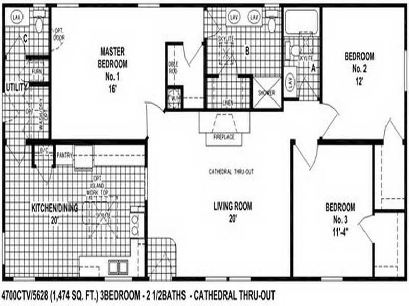 Best Mobile Homes Double Wide Floor Plan Inspirational 3 With Pictures