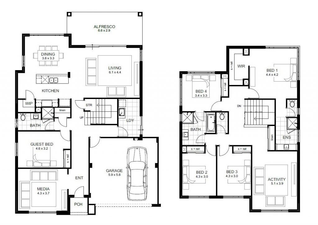 Best Beautiful 5 Bedroom Double Storey House Plans New Home With Pictures