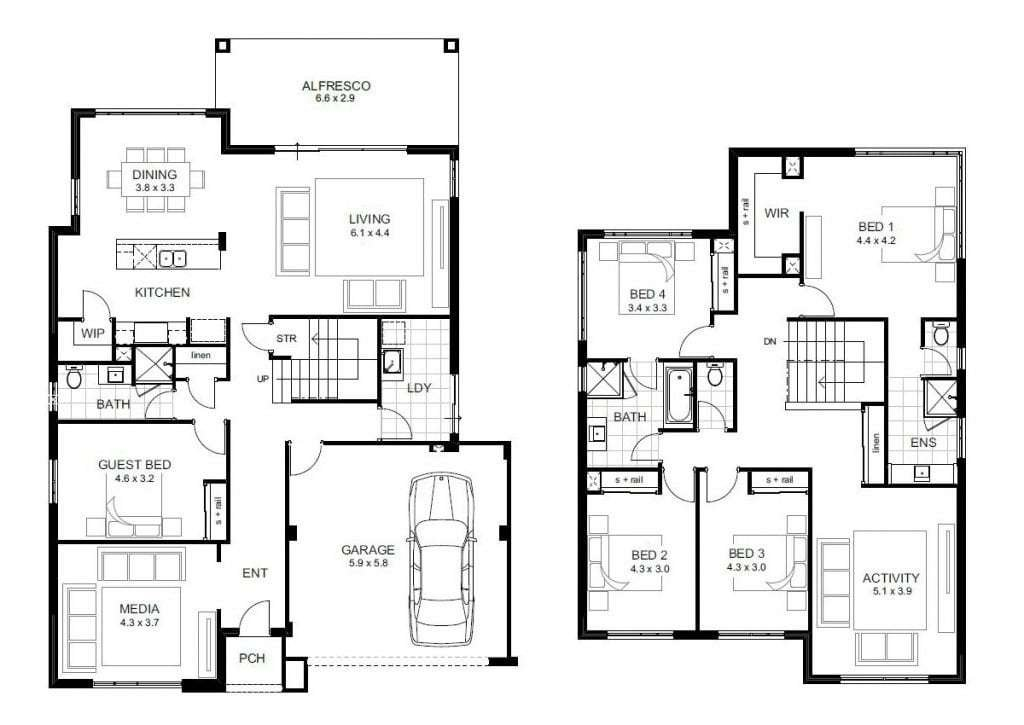 Best 5 Bedroom Double Storey House Plans Beautiful 5 Bedroom House Designs Perth Double Storey New With Pictures
