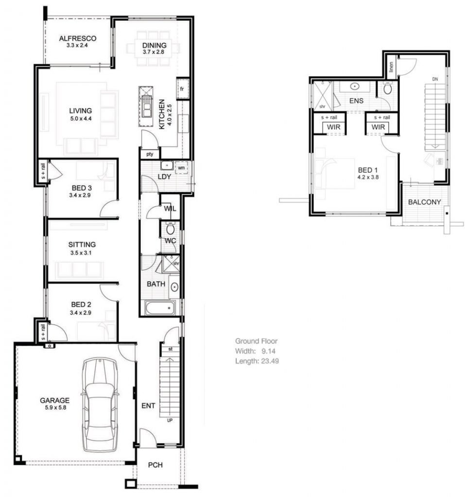 Best 5 Bedroom House Plans Narrow Lot Fresh House Plans For With Pictures