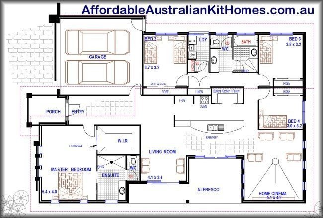 Best Cool Four Bedroom House Plans Australia New Home Plans Design With Pictures