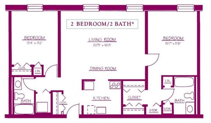 Best Two Bedroom 2 Bathroom House Plans Archives New Home With Pictures