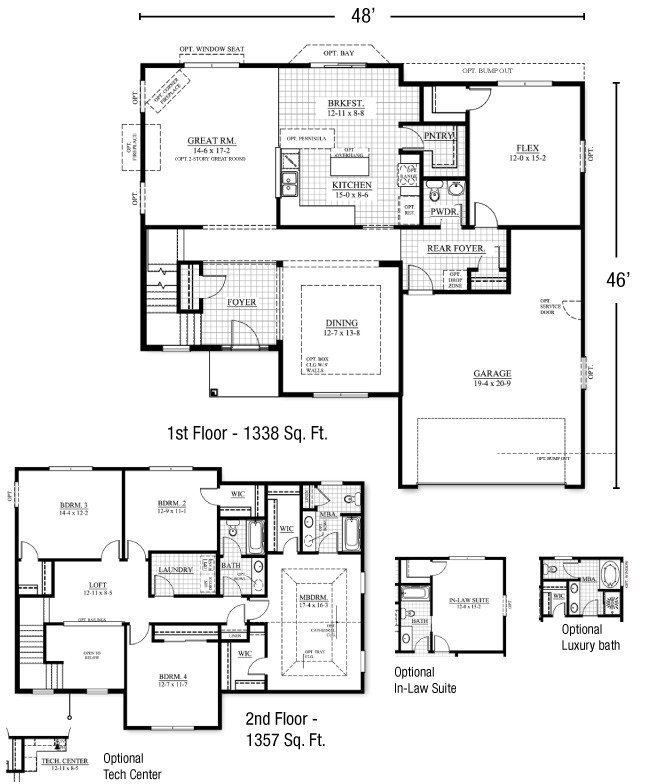 Best New Two Story House Plans With Master Bedroom On First With Pictures