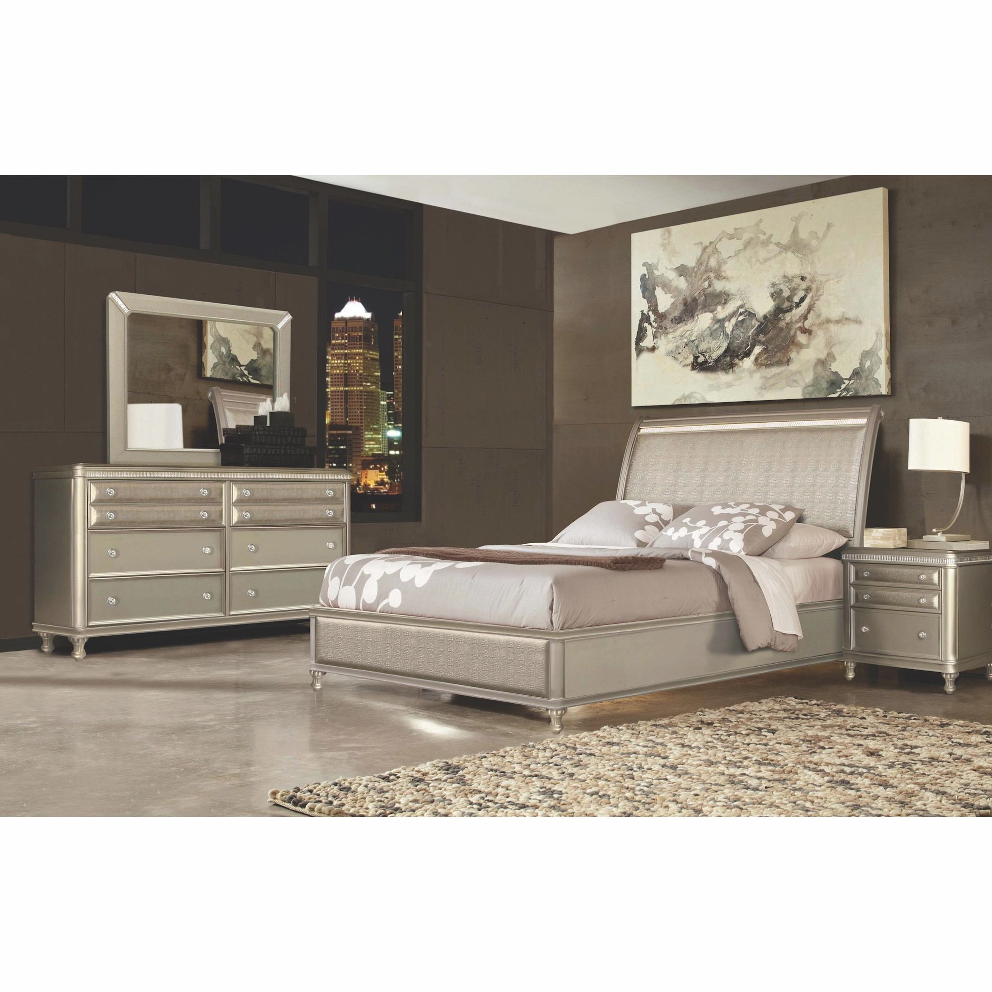 Best Riversedge Furniture Bedroom Groups 7 Piece Glam Queen With Pictures