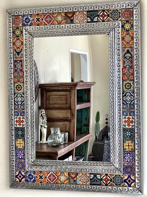 Best Mexican Tin Tile Mirror Large Furniture Lighting With Pictures