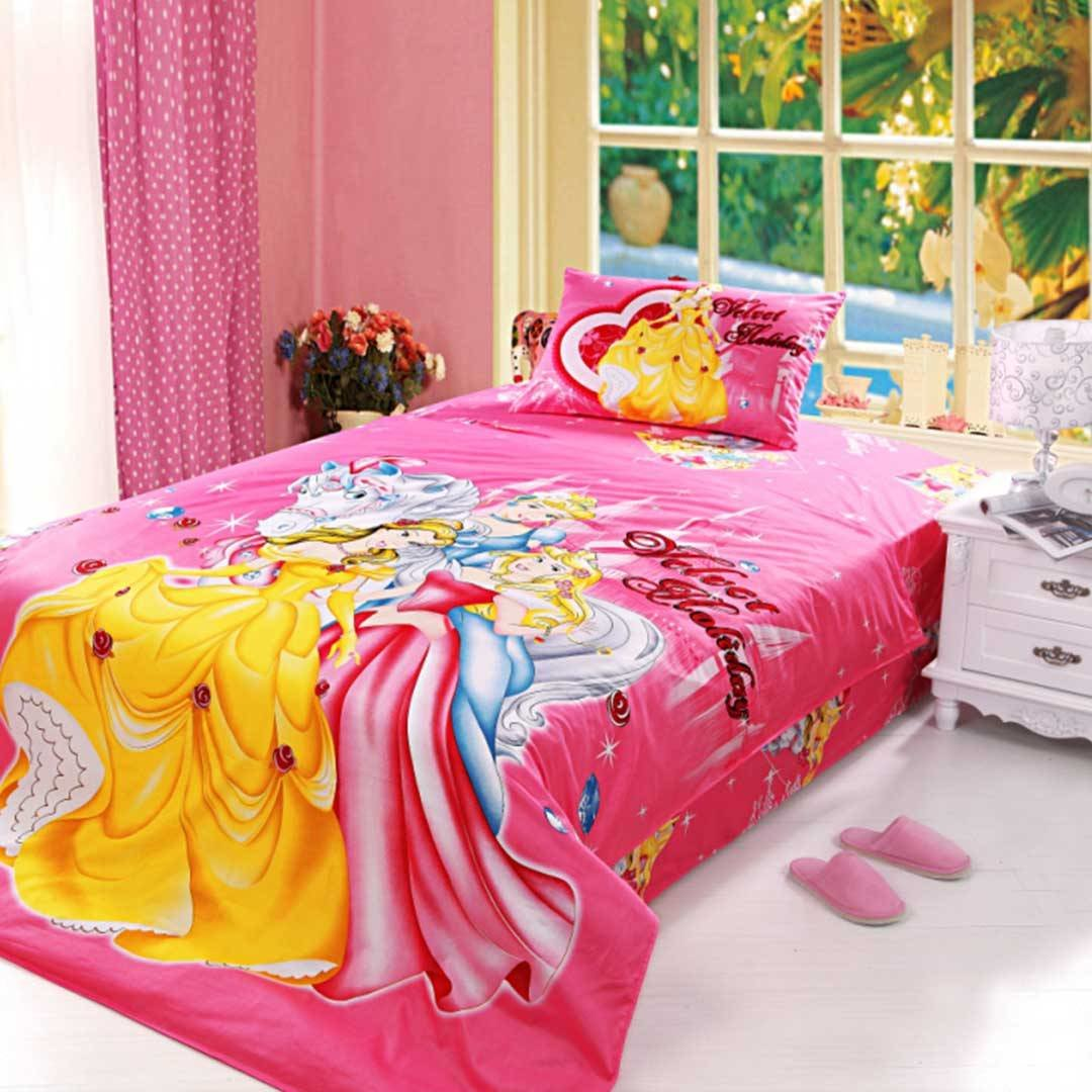 Best Little Girls Bedding Set 4Pcs Twin Size Ebeddingsets With Pictures