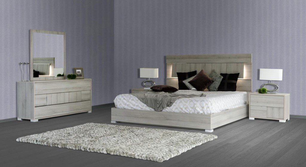 Best Vig Modrest Ethan Modern Grey Bedroom Set Made In Italy With Pictures
