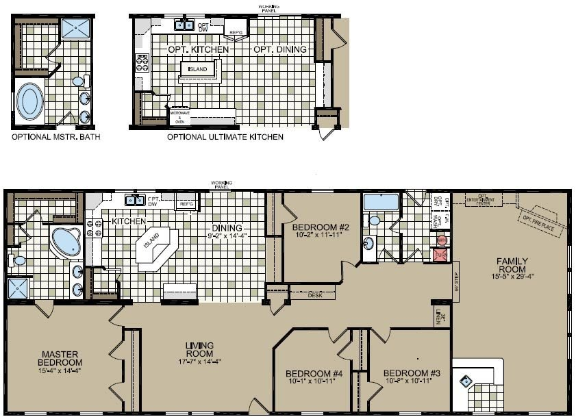 Best Double Wide Mobile Home Floor Plans Double Wide Home With Pictures