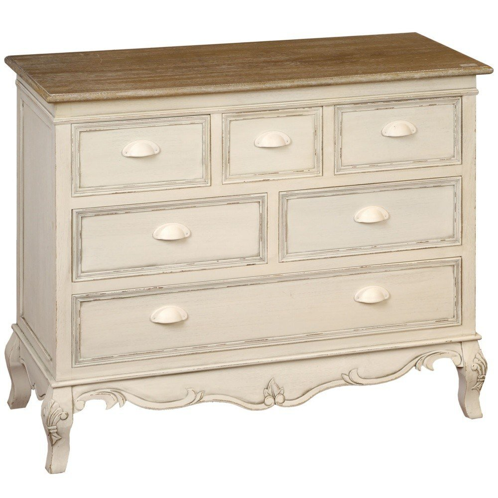 Best Shabby Chic Country 6 Drawer Chest Bedroom Furniture Direct With Pictures