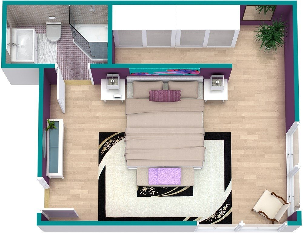 Best Bedroom Floor Plan Roomsketcher With Pictures