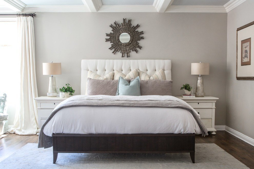 Best Benjamin Moore Revere Pewter Bedroom Bedroom Traditional With Pictures