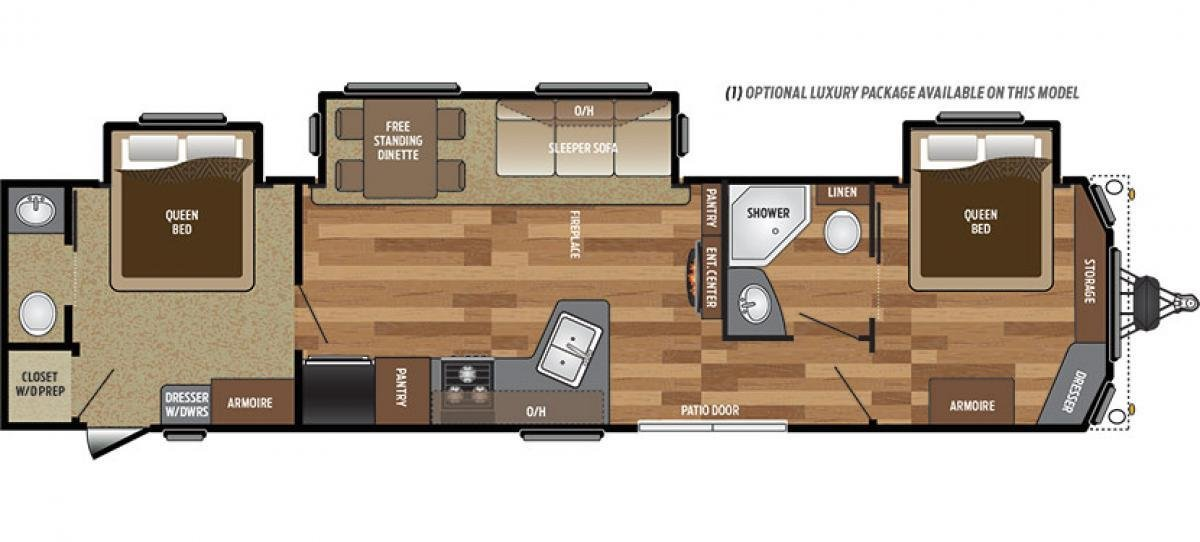 Best 2 Bedroom 5Th Wheel Rv For Sale 2 Bedroom Fifth Wheel Floo With Pictures