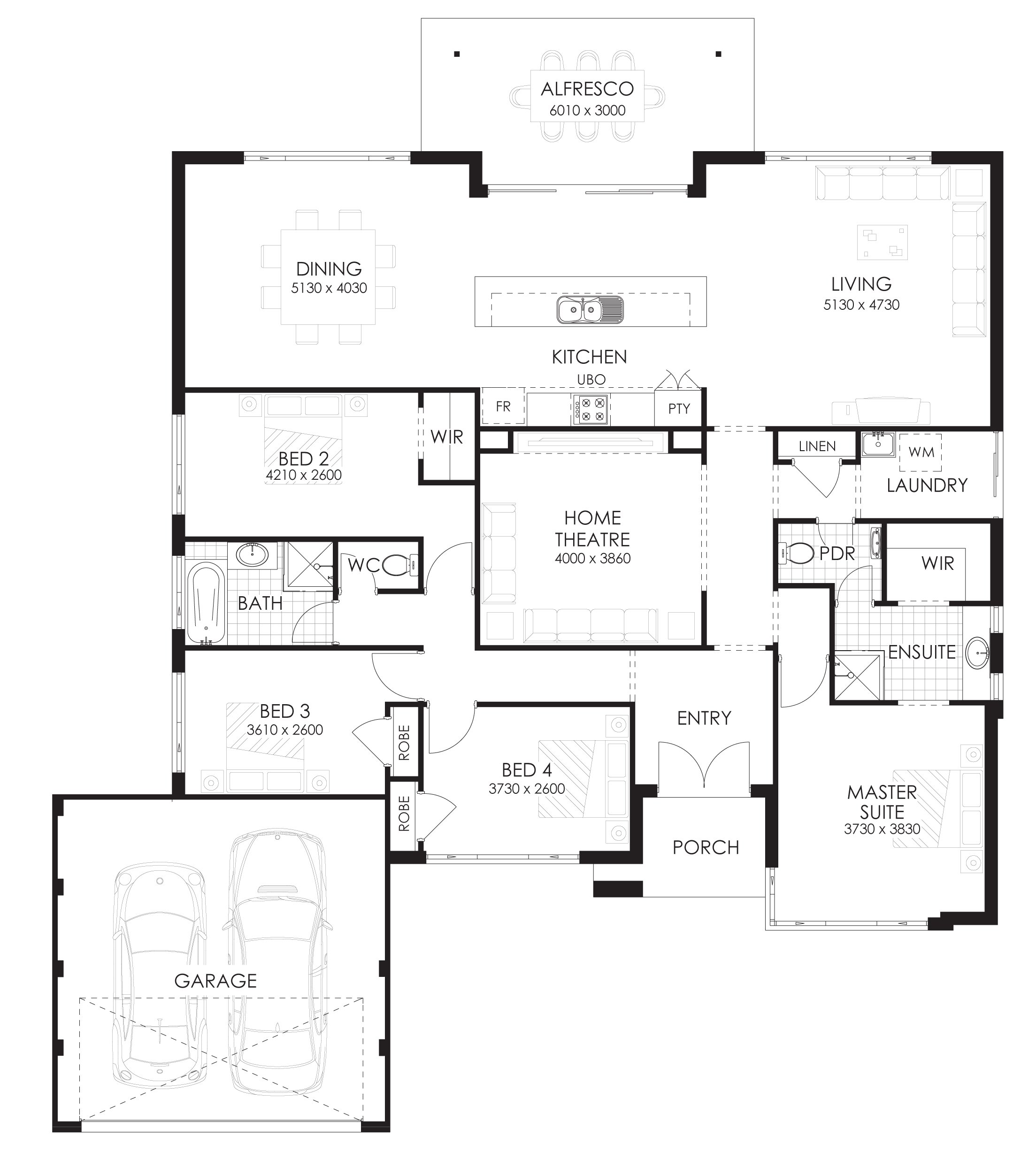 Best Floor Plan Friday 4 Bedroom Home With Rear Views With Pictures