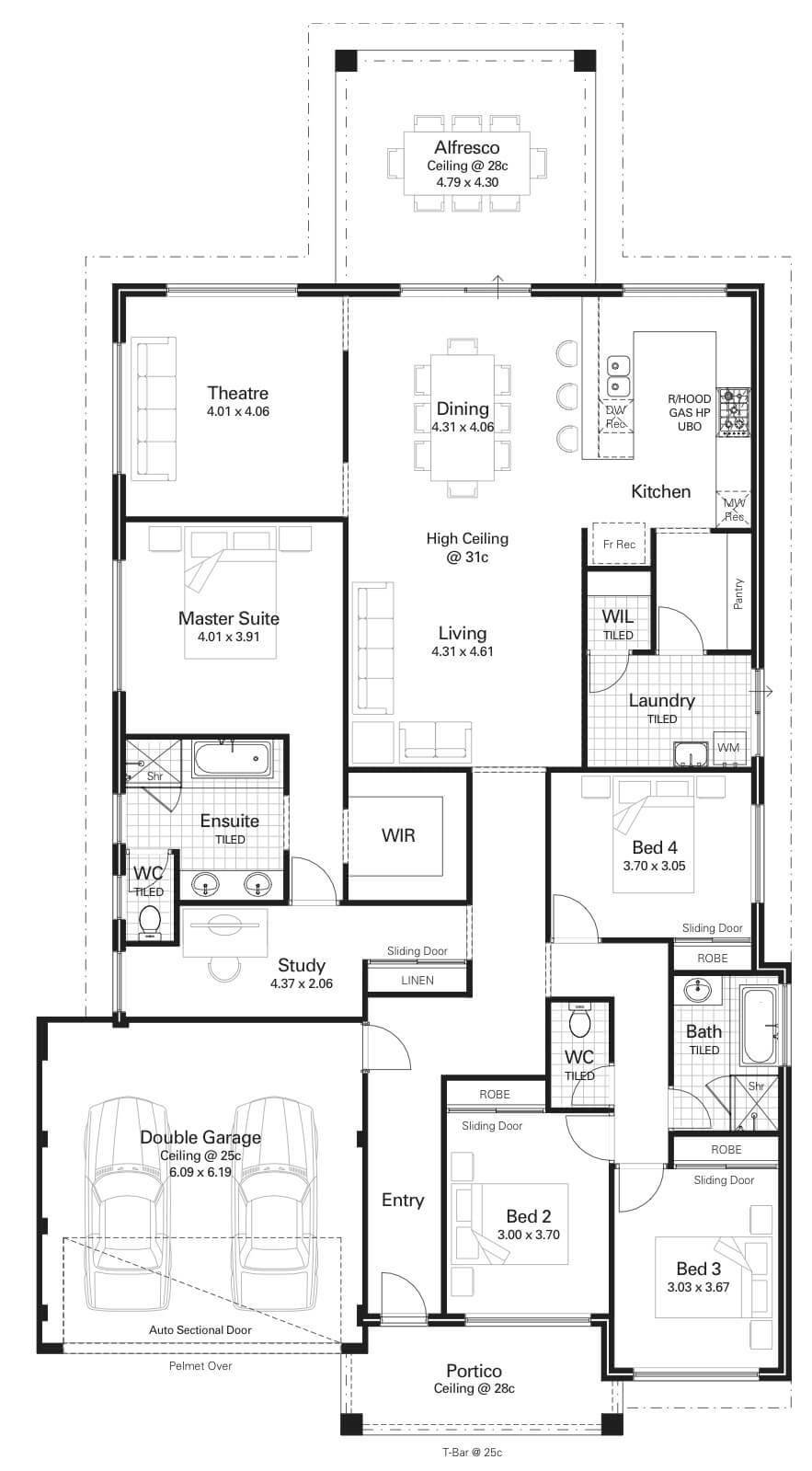 Best Floor Plan Friday 4 Bedroom Study High Ceilings With Pictures