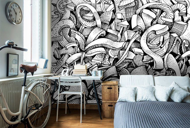 Best Graffiti Wallpaper For Your Teenager's Bedroom Wallsauce Us With Pictures