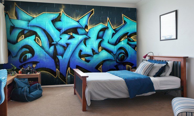Best Graffiti Wallpaper For Your Teenager's Bedroom Wallsauce Usa With Pictures
