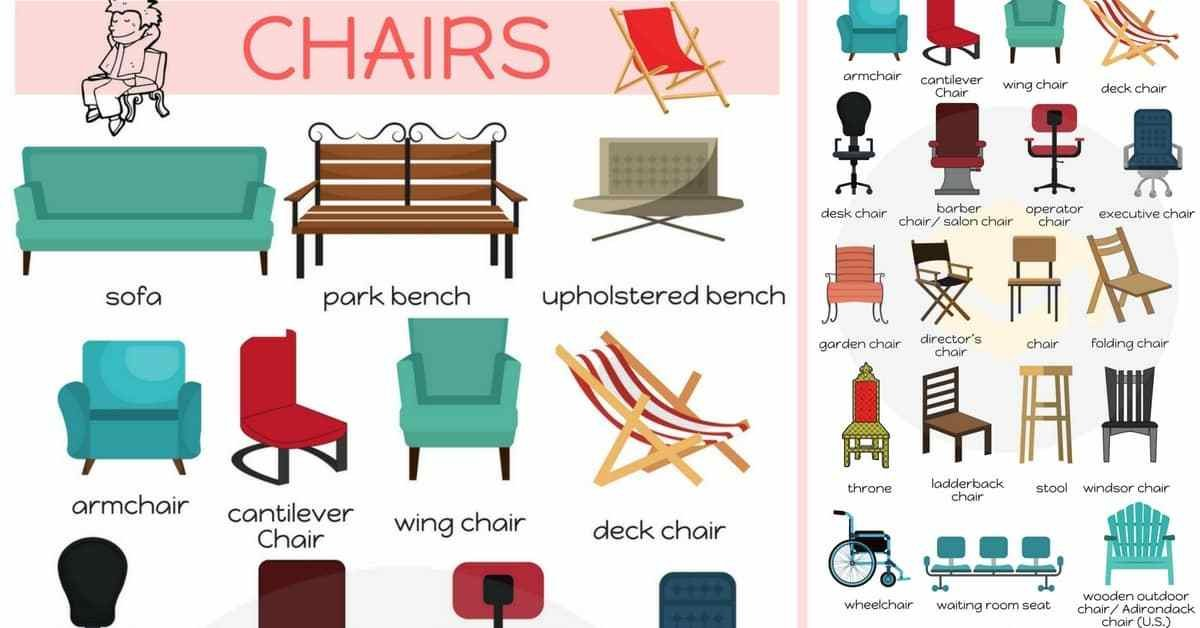 Best Types Of Chairs List Of Chair Styles With Names 7 E S L With Pictures